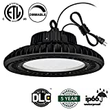 AntLux UFO LED High Bay Light - 100W (400W HID/HPS Replacement) 12000LM - Dimmable (Optional) - US Plug - 5000K - IP65 Waterproof Commercial Grade Area Warehouse Workshop Hanging Lighting Fixtures