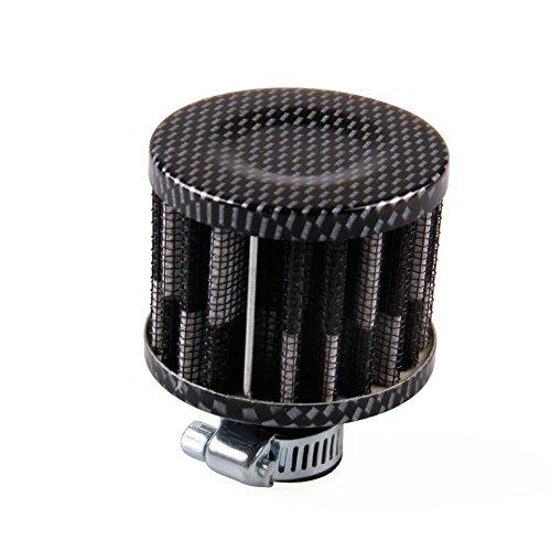 Motorcycle Crankcase Breather - Ocamo 12mm Air Filter Motorcycle Turbo Vent Crankcase Breather