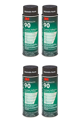 3M Spray Adhesive, 17.6 Ounce (4 Cans) by 3M (Image #1)
