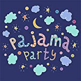 OFILA Pajama Party Backdrop 5x5ft Slumber Party Photography Background Children Sleepover Party Kids Pillow Fights Events Leisure Activities Holidays Party Photos Video Shoots Props