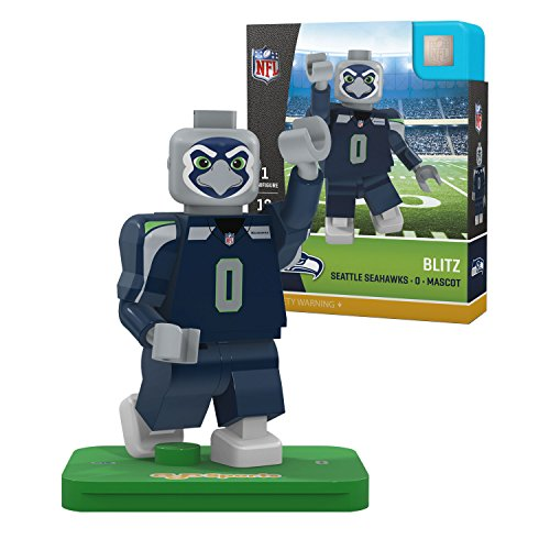 OYO NFL Seattle Seahawks Gen4 Limited Edition Blitz The Mascot Mini Figure, Small, White (Seattle Seahawks Mascot)