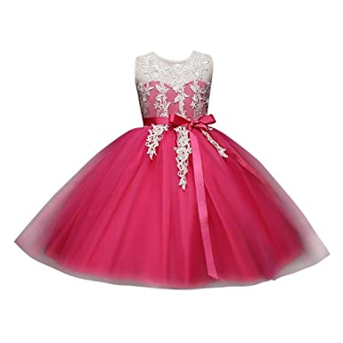 Girls Dresses, Wanshop® Flower Baby Girl Princess Bridesmaid Pageant Long Sleeve Princess Dress Gown