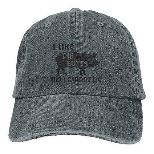 Cannot Lie Unisex Denim Baseball Cap Adjustable Strap Low Profile Plain Hats Outdoor Casquette Adjustable Sunbonnet Ash Asphalt ()