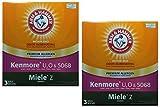 Kenmore U, O, & 5068 Premium Allergen Vacuum Bags, 3 bags, 2-pack (6 total bags)