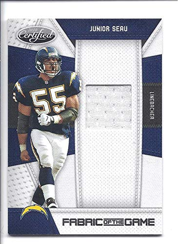 JUNIOR SEAU 2010 Certified Fabric of the Game  90 GAME WORN JERSEY Card  033 b6dca465e