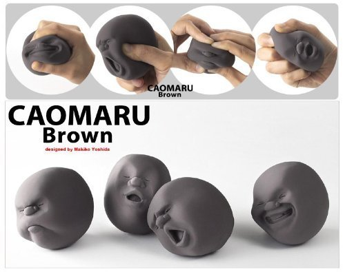 Fanned 4pcs/set Vent Human Face Ball Anti-stress Ball of Japanese Design Cao Maru (Face Stress Ball)