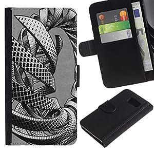 Be Good Phone Accessory // Caso del tirón Billetera de Cuero Titular de la tarjeta Carcasa Funda de Protección para Samsung Galaxy S6 SM-G920 // intertwine mass