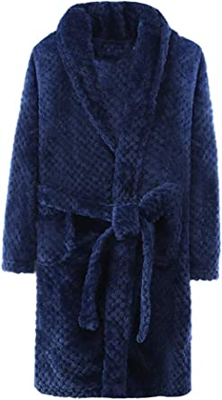 ABClothing Bata mullida para niños y Adultos Bata Gruesa con Bolsillos y cinturón: Amazon.es: Ropa y accesorios