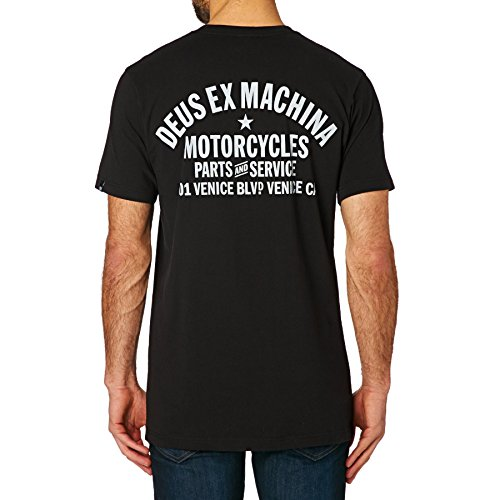 Deus Ex Machina Venice Address Short Sleeve T-Shirt Large (Ex Stores Mens Cotton)