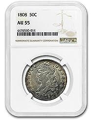 1808 Draped Bust Half Dollar AU-55 NGC Half Dollar AU-55 NGC
