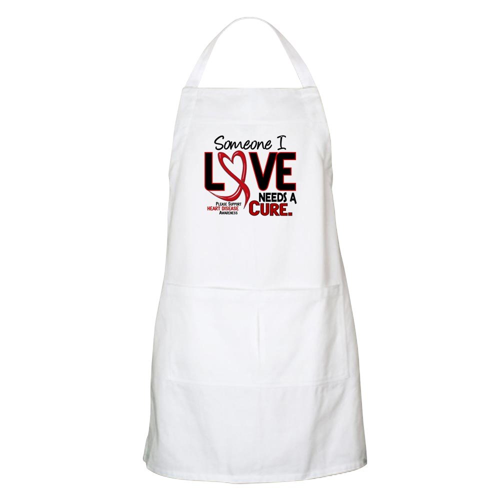 CafePress Needs A Cure Heart Disease BBQ Apron Kitchen Apron with Pockets, Grilling Apron, Baking Apron by CafePress