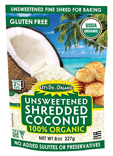(Let's Do...Organic Shredded, Unsweetened Coconut, 8 Ounce Packages (Pack of 12))