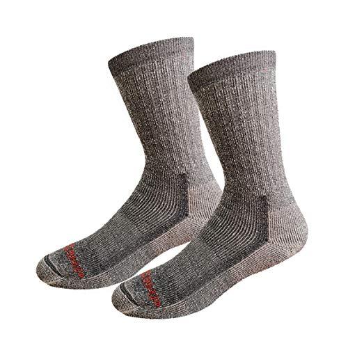 - Merino Wool Copper Cushion Crew Socks- Wicking Hiking Cycling Running Sock for Men Women -2PK XL