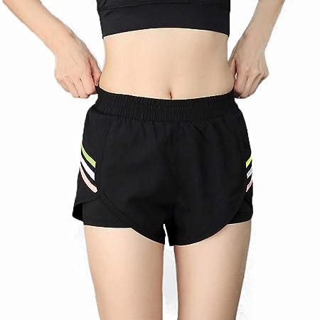 Goodvk Shorts Deportivos de Yoga para Mujeres Pantalones ...
