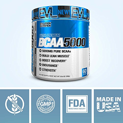 Evlution Nutrition BCAA5000 Powder 5 Grams of Premium BCAAs (Unflavored, 60 Serving) by Evlution (Image #6)