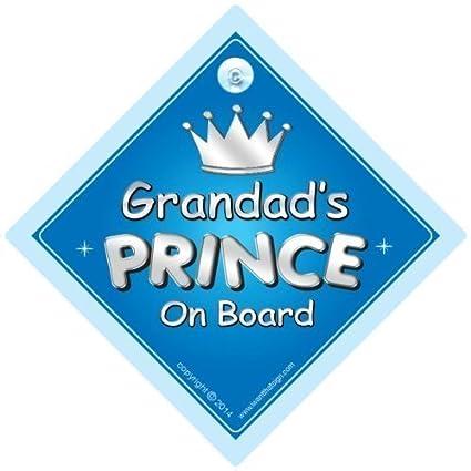 grandads Príncipe a bordo señal de coche, príncipe Señal ...