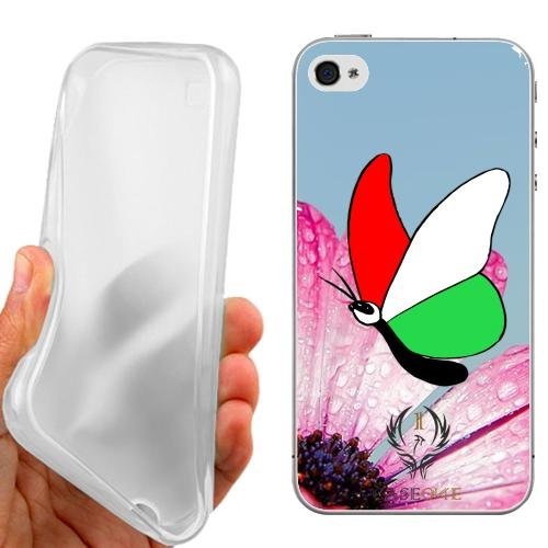CUSTODIA COVER CASE CASEONE BUTTERFLY ITALY PER IPHONE 4 4G 4S