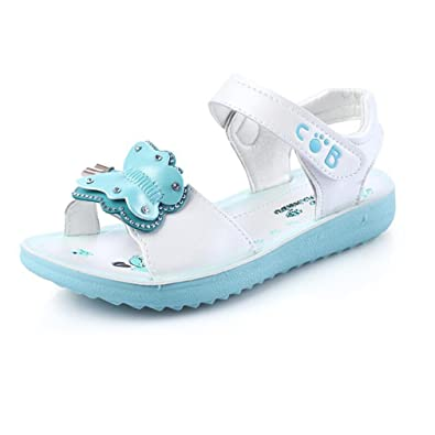 Kids Girls Summer Sandals Toddler Casual Flat Beach Shoes Leather Children Sizes