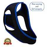 Sleep Aid Anti-Snoring Chin Strap: Snoring Aid for Solid Night's Sleep – Adjustable, Comfortable Strap Fits Most Heads – Stop Snoring with Sleep Mask