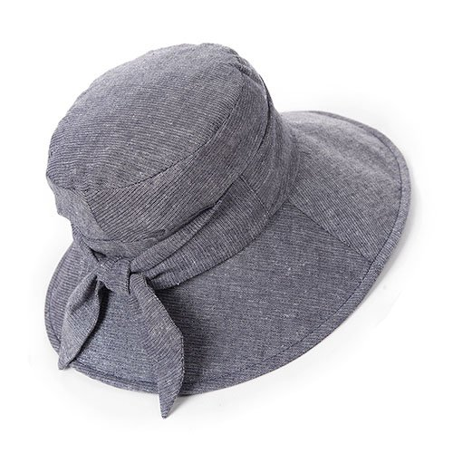 - Siggi Bucket Boonie Cord Fishing Cap Summer Sun Hat Linen Bowknot Wide Brim for Women Grey