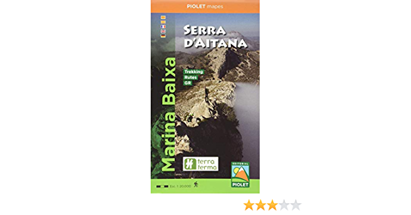 Marina Baixa. Serra Daitana 1: 20.000: Amazon.es: Vv.Aa:: Libros
