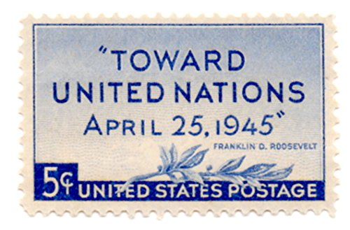 - USA Postage Stamp Single 1945 Toward United Nations Issue 5 Cent Scott #928