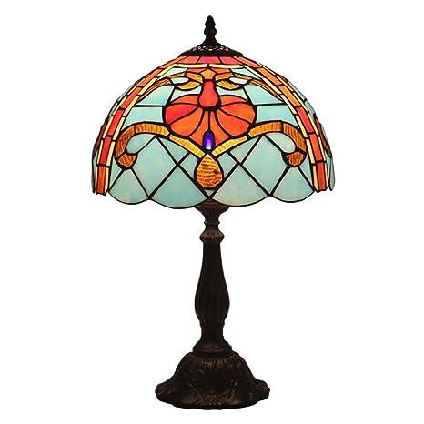 12 pulgadas estilo Tiffany Lámpara de mesa Vintage Color ...