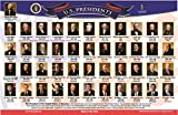 Brainymats educational placemat with the Presidents of the United States. Full color pictures of all the presidents with time in office and party affiliation. The back tests your memory with full color pictures, but no names. This mat is double sided...