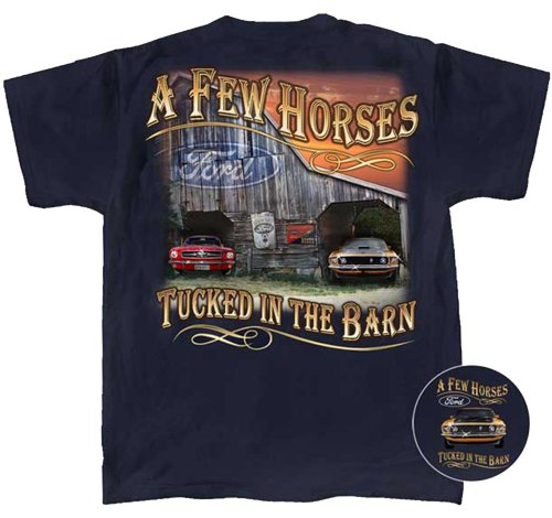 Ford Mustang Wild Horses Out In The Barn T-shirt-xl (Ford Items)