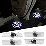 Nissan Altima Accessory Lighting - 4PCS Aukur Logo Projector Car Door LED Lighting Entry Projector for Nissan