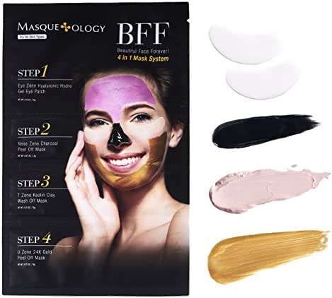 Masqueology - Beautiful Face Forever 4 In 1 Mask System | Refreshed, Rejuvenated, and Toned (1 Pack)