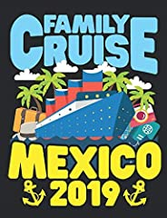 7.44 x 9.69, wide ruled lined paper, 200 pages, for men, women who love cruising to Mexico