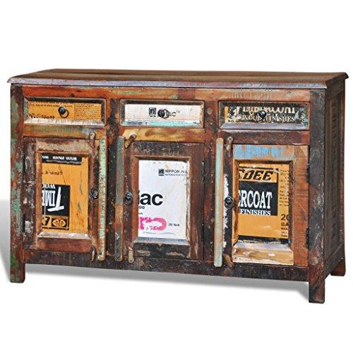 vidaXL-Antik-Vintage-Massivholz-Kommode-Sideboard-Schrank-3-Tren