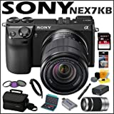 Sony DSLR NEX7KB 24.3MP Digital SLR Camera & 18-55MM Zoom Lens + 55-210mm Nex System Zoom Lens + 16 GB Memory Card + Camera Bag + 3 Foot Mini HDMI Cable + Accessory Kit