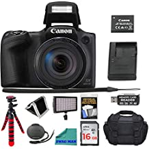 "[Patrocinado] Canon PowerShot SX420 Digital Camera 42x Optical Zoom Wi-Fi NFC Enabled, 16GB SD Card, Screen Protector, Flash Drive, Camera Bag, 12"" Tripod, Memory Card Wallet, and Premium Accessory Bundle"