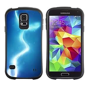 LASTONE PHONE CASE / Suave Silicona Caso Carcasa de Caucho Funda para Samsung Galaxy S5 SM-G900 / Lights Blue Water Sky