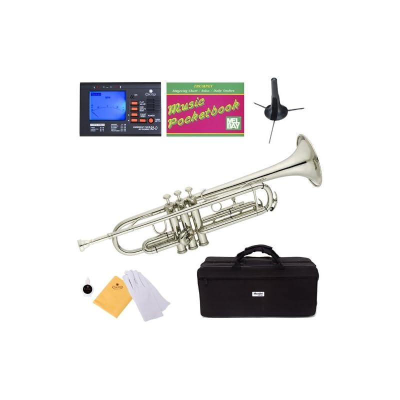 Mendini MTT-N Nickel Plated Bb Trumpet +