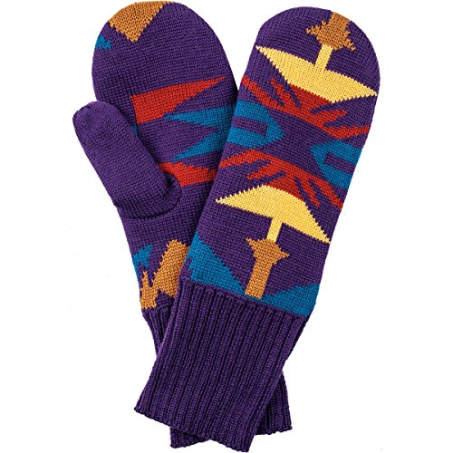 Pendleton Women's Fleece-Lined Mittens, Echo Peaks Purple, One Size