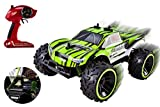 Speed Muscle Remote Control RC Buggy 2.4Ghz 1:16 Scale Truggy Ready to Run w/ Suspension Toy (Green Color)