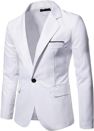 Lannister Blazer De Hombre Blazer Formal Fit Ropa Traje Slim Festiva Elegante Camisa De Ocio Chaqueta Abrigo Blazer De Un Botón Boda Formal De Negocios 7 Colores: Amazon.es: Ropa y accesorios