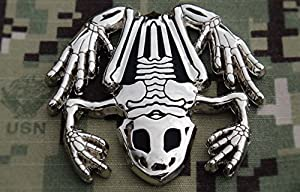 Polished Silver Bone Frog / Navy SEAL Challenge Coin / Naval Special Warfare (NSW) by FLC Trading