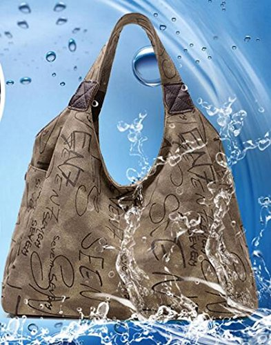 Handbags Handle Tote Casual Canvas Top Bags Vintage Hobo Crossbody Coffee Women Shopping Evalent Ox1qXHwR1