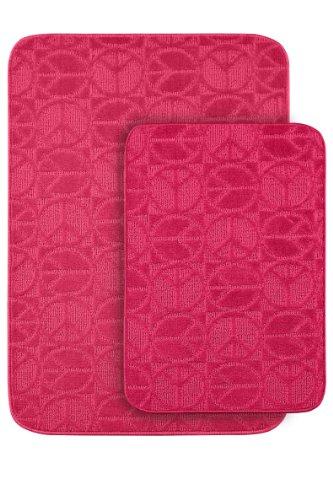 garland rug peace 2 piece bath rug set pink import it all. Black Bedroom Furniture Sets. Home Design Ideas