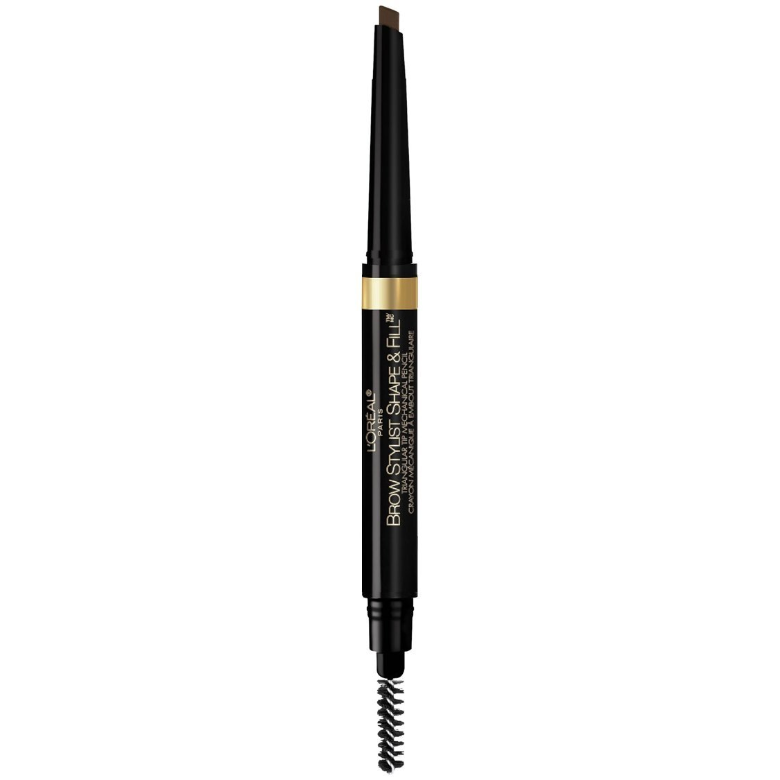 L'Oréal Paris Makeup Brow Stylist Shape & Fill Mechanical Eye Brow Makeup Pencil, Dark Brunette, 0.008 oz.