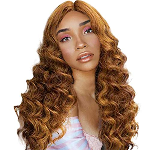 Hair Synthetic Wigs for Women,Jchen Ladies Girls Long Curly Gold Hair Cosplay Party Wig Synthetic Hair Wigs(Ship from USA)]()