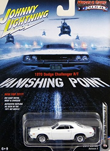 Johnny Lightning 1:64 Muscle Cars USA Vanishing Point 1970 Dodge Challenger R/T Diecast Vehicle