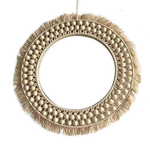 Mirror Makeup Mirror Rattan Innovative Art Decoration Round Mirror Dressing Bathroom Wall -