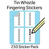Tin Whistle, Basuri & Native American Flute: Fingering Stickers (250 Sticker Pack) Free shipping at check out!