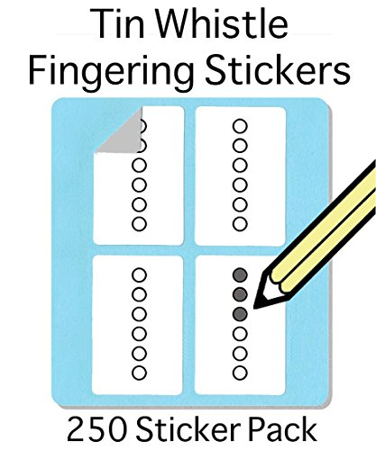 Tin Whistle, Basuri & Native American Flute: Fingering Stickers (250 Sticker Pack) FREE SHIPPING AT CHECKOUT Free shipping at check out!