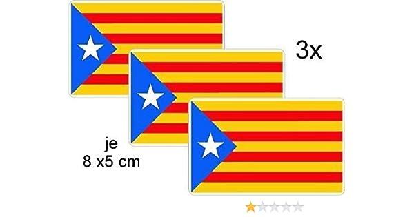 Pegatinas 8x 5cm de Cataluña de España Estelada BLAVA: Amazon.es: Coche y moto